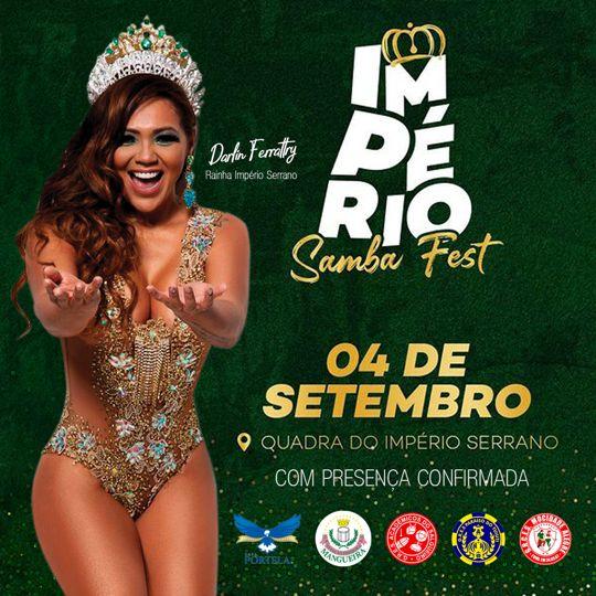 COM TODOS OS INGRESSOS VENDIDOS, 'IMPÉRIO SAMBA FEST' OCORRE NO SÁBADO COM GRANDES ATRAÇÕES