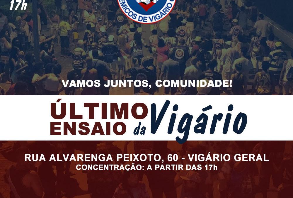 VIGÁRIO GERAL ENCERRA TEMPORADA DE ENSAIOS NOS BRAÇOS DA COMUNIDADE