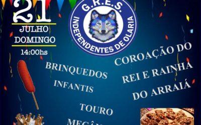 INDEPENDENTES DE OLARIA REALIZA FESTA JULINA NO DOMINGO, 21