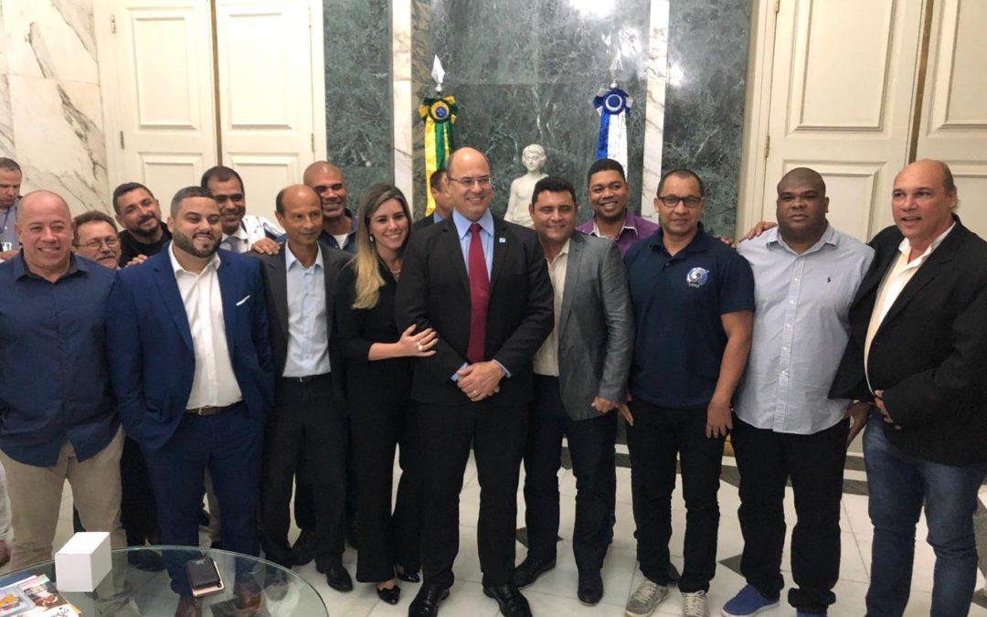 GOVERNADOR RECEBE DIRIGENTES DA LIERJ, LIESB E AESM-RIO NO PALÁCIO GUANABARA