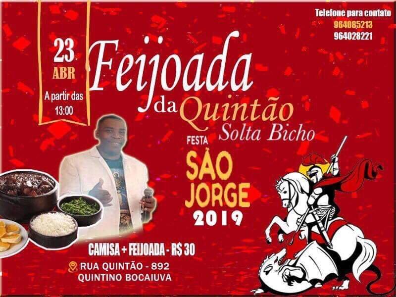 TINGA COMEMORA O DIA DE SÃO JORGE COM FESTA