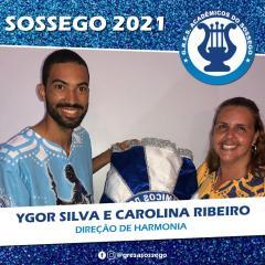 CAROLINA RIBEIRO SE JUNTA A YGOR SILVA NA DIREÇÃO DE HARMONIA DA SOSSEGO