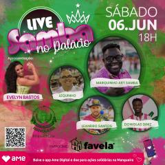 """MANGUEIRA TERÁ LIVE """"SAMBA NO PALÁCIO"""" ESTE SÁBADO"""