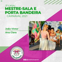 CONHEÇA O TERCEIRO CASAL DE MESTRE-SALA E PORTA-BANDEIRA DA LINS IMPERIAL