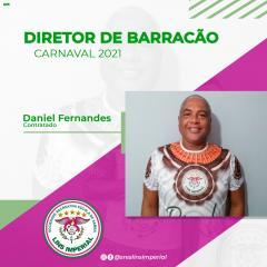 DANIEL FERNANDES É O NOVO DIRETOR DE BARRACÃO DA LINS IMPERIAL