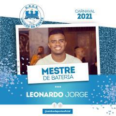 LEONARDO JORGE É O NOVO MESTRE DE BATERIA DA UNIDOS DA PONTE
